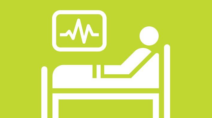 Patient in bed icon